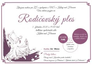 rodicovsky ples 2020